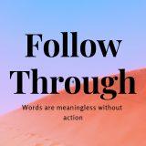 Follow Through 1 2