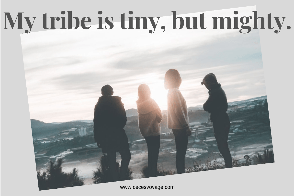 My tribe is tiny, but mighty.(2)